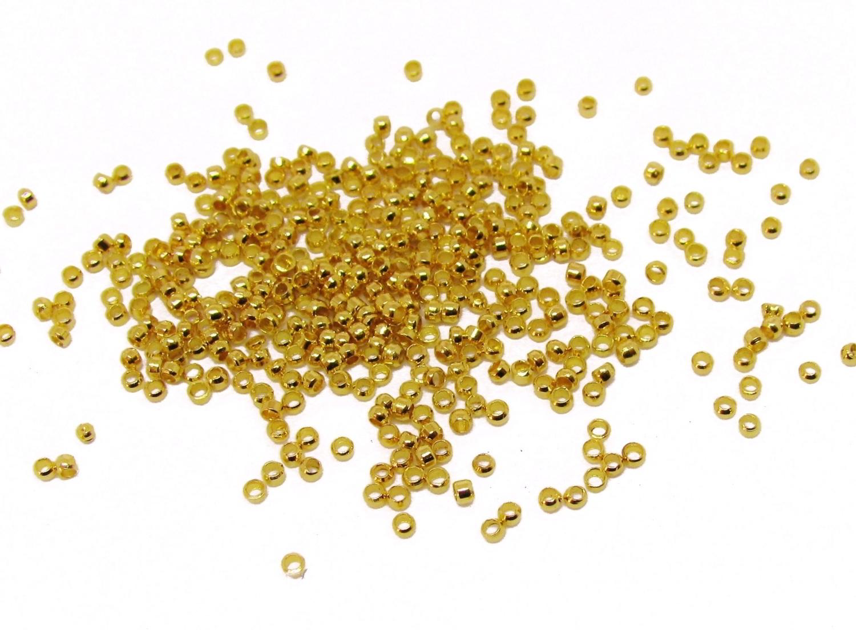 250 Quetschperlen 1 mm goldfarben, Schmuck mit Perlen basteln ...
